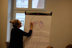 Manga-Künstlerin Alexandra Völker beim Kreativwettbewerb in Neuruppin